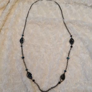 Jewelry - Looong Blue Beaded Necklace